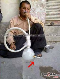 Funny Hookah Its Happen Only in India Jugaad