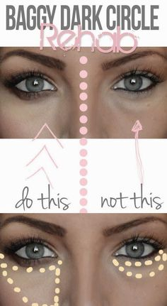 Conceal dark under eye circles the RIGHT way