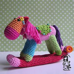 rocking horse, crochet toy, amigurumi, christmas decoration, christmas,crochet, crochet pattern,Magic with hook and needles, Vendula Madersk...