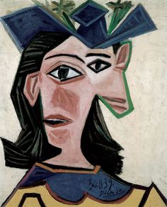 Pablo Picasso / Bust of Woman with Hat  (Dora) / 1939 / oil on canvas