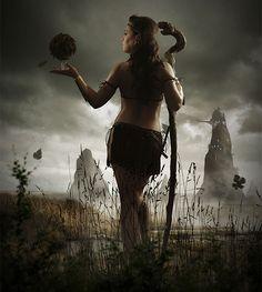 Воительница мистического племени · «Мир Фотошопа»