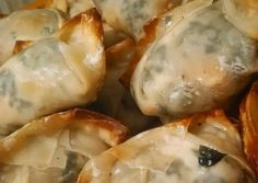Shrimp spinach and cream cheese ragoons Recipe - Yummy this dish is very delicous. Let's make Shrimp spinach and cream cheese ragoons in your home!