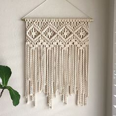 This Macrame Wall Hanging Pattern seems to be a shop favorite. ✨