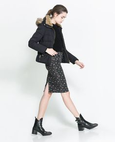 Image 1 of QUILTED COAT from Zara