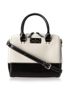 Kate Spade Wellesley Alessa Black Leather Satchel