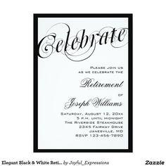 elegant black and white retirement party invitations x invitation card - Free Printable Retirement Party Invitations
