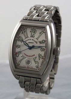 FRANCK MULLER --- Conquistador 8000 SC Stainless Steel Watch
