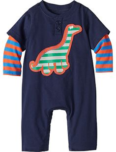 Dino Romper from Hanna Andersson. Too cute! Not surprised it is sold out.