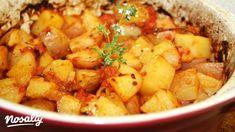 Mediterrán paradicsomos burgonya   Nosalty Potato Recipes, Meat Recipes, Hungarian Recipes, Chana Masala, Sweet Potato, Potato Salad, Side Dishes, Food And Drink, Potatoes