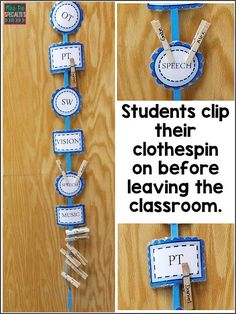 Super simple organization tip for special education classrooms. This classroom visual will help you keep track of students as they come and go to therapies during the school day. classroom Easiest Organization Tip For The Special Ed. Life Skills Classroom, Autism Classroom, Classroom Setting, Special Education Classroom, Classroom Setup, Elementary Education, School Classroom, Future Classroom, Classroom Arrangement
