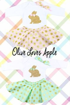 Baby Girls Adorable Easter Outfits.