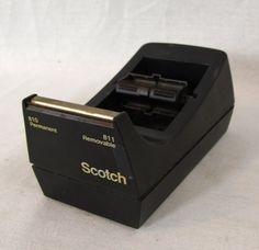 Scotch 3M Desk Twin Tape Dispenser C-39 Dual Double Roll Desktop Black  #Scotch