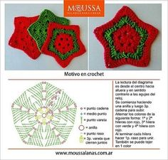 Also U can make ur own awesome star blankie , continue crocheting and thats it :) Crochet Christmas Hats, Crochet Ornaments, Christmas Crochet Patterns, Holiday Crochet, Crochet Crafts, Crochet Projects, Crochet Snowflake Pattern, Crochet Stars, Crochet Flowers