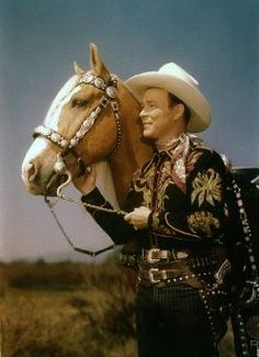 Roy Rogers and Trigger. My very first cowboy hero.  I have his autograph.