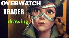 drawing: OVERWATCH Tracer/speed painting time lapse