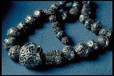 Viking age silver beads. Gotland, Sweden.