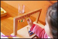 Manualidades Educativas: Sumas con perlas montessori