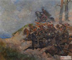 Jerzy Kossak - Szarża 8 Pułku Ułanów Księcia Józefa Poniatowskiego, 1929