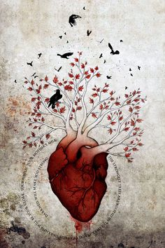 """Weirwood: The Heart Tree fan art by wolverrain """"Never fear the darkness, Bran. The strongest trees are rooted in the dark places of the earth. Darkness will be your cloak, your shield, your mother's milk. Darkness will make you strong. Game Of Thrones Tattoo, Game Of Thrones Fans, Medical Art, Medical Drawings, Heart Tree, Anatomy Art, Heart Anatomy, Anatomy Drawing, Art Plastique"""