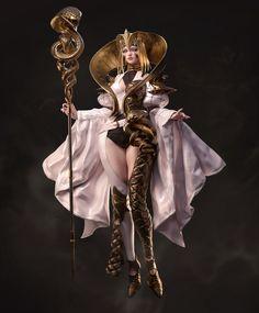 ArtStation - 茆同学-CG精品班-Student Showcase, 翼次方 www.ycfcg.com Fantasy Characters, Female Characters, Fictional Characters, Yuan Ti, 3d Character, Inspirational Artwork, Fantasy Artwork, Great Britain, Mythology