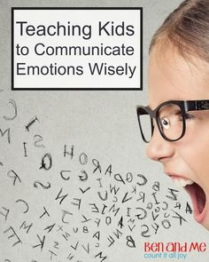 Teaching Kids to Communicate Emotions Wisely. These tips will help parents teach their children to handle strong emotions and improve self control. Teaching Emotions, Feelings And Emotions, Teaching Kids, Kids Learning, Parenting Articles, Parenting Teens, Parenting Hacks, Coping Skills, Social Skills