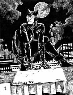 CatWoman Comic Book Art