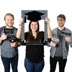 Tassel Worth the Hassle Silver Personalized Graduation Party Selfie Photo Booth Picture Frame & Props Printed on Sturdy Material party Prom Photo Booth, Photo Booth Picture Frames, Photos Booth, Diy Photo Booth, Photo Booth Backdrop, Photo Pic, Graduation Party Planning, College Graduation Parties, Graduation Party Decor
