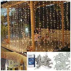 Size: Warm White string fairy wedding curtain light Features: This led decoration curtain light is composed by a controller and mai. Wedding Tips, Wedding Events, Wedding Planning, Wedding Hair, Christmas Fairy, Christmas Wreaths, Seasonal Decor, Holiday Decor, Icicle Lights