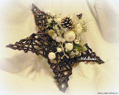 плетение из газет. рождественские идеи (50) (700x559, 246Kb)
