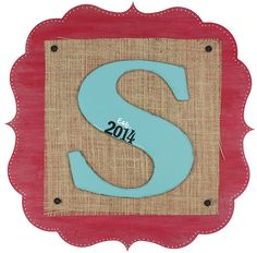 Monogram Scroll Plaque - click through for project instructions