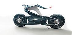 Une moto design se plie en 2 dans les virages