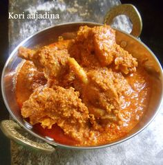 Cherie's Stolen Recipes: kori aajadina/ chicken sukka