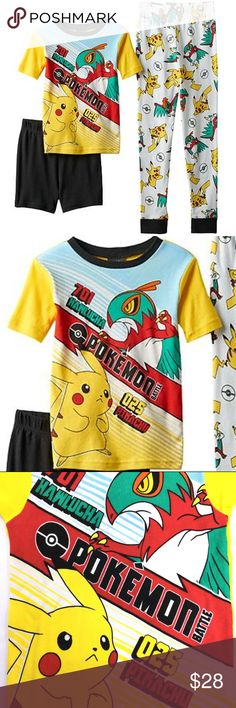 5de2e9be8a Pokemon Pajama Set Pikachu Battle 3 Pc Boys 6 Pokemon Boys Size 6 3 piece