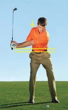 My wrists are fully set, and my left arm is still low. Now I simply keep turning my shoulders to get to the top. Golf Backswing, Golf Chipping Tips, Dubai Golf, Golf Tips Driving, Golf Training Aids, Soccer Training, Golf Putting Tips, Golf Club Sets, Golf Clubs