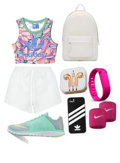 """""""no pain no gain"""" by emiliamm on Polyvore featuring moda, adidas, Chloé, Fitbit, NIKE, PB 0110 e PhunkeeTree"""