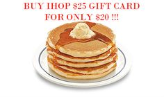 Buy IHOP GIft Card Only $20 for a $25 Gift Click Here -http://wp.me/p8U4wU-BK- Special IHOP Coupon  Discount IHOP Gift Card via Email