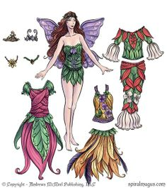 Andrews McMeel Publishing fairy paper doll