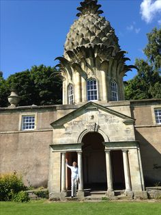 Lord Dunmore's famous pineapple folly. All that's left of the Dunmore estate; located west of Edinburgh. Very difficult to find, but we found it!!