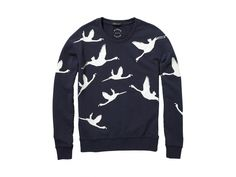Maison Scotch Flock Printed Flamingo Sweatshirt