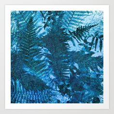 Woodland fern Art Print by uteb Art Prints, Digital Art, Wall Art, Nature Color Palette, Image, Abstract Artwork, Art, Pictures, Color