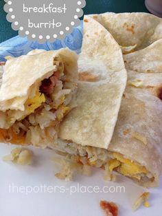 Camping Food: Breakfast Burrito's from The Potter's Place! - One Sweet Appetite