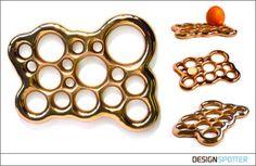 Bronzeknuckle limited edition sculpture / trivet / fruit holder cast in bronze by Diplomat www.diplomatdesign.com