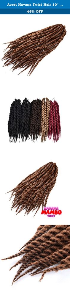 """Aoert Havana Twist Hair 10"""" 12"""" 14"""" 3PCS- 3X Havana Twist Braid Crochet Styles Pack of 3 (Light Brown). Brand: AOERT Material: 100% Kanekalon and Toyokalon 10 12 14 Inch Crochet Interlocking GENERAL CARE FOR SYNTHETIC HAIR The following is a general outline of how to maintain synthetic hair. Individual products may behave differently based on usage and style. Consult your stylist for specific instructions. Always wash hair in cool water using a mild shampoo and conditioner. Washing in hot..."""