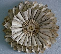 music paper wreath can be used year round.