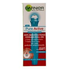 Garnier Acne Rollon Pure Active 15ml. by Garnier. $3.71. Dries out imperfections. Anti-Imperfections Cooling Acne Roll-On. Visibly fades marks. Garnier Skin Naturals Pure Active. * High Quality & Services by Ooobies Store. Garnier Pure Active Pimple Relief Roll-On Purifying salicylic acid + HerbaRepairTM Concentrated formula Helps dry pimple Anti-spots, anti-marks Start action now Garnier PureActive is a new generation of concentrated formulas tested on acne prone skin. New Gar...