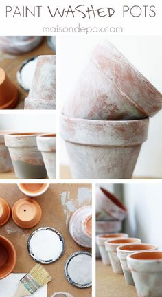 Create your own aged patina on terra cotta pots with this simple tutorial at maisondepax.com #paint #diy