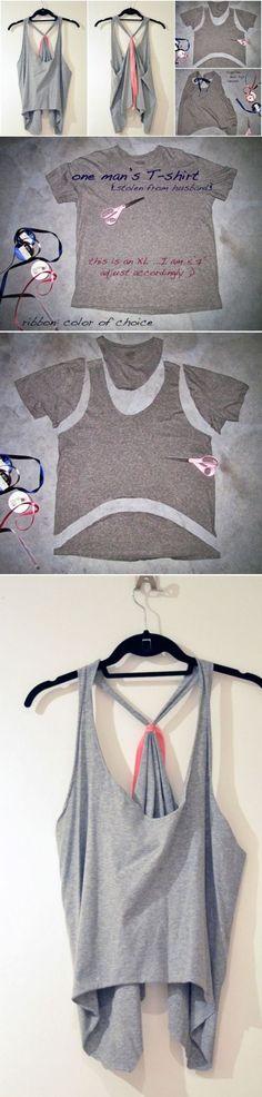 DIY T Shirt Into A Cute Tank Top | DIY Crafts Tips