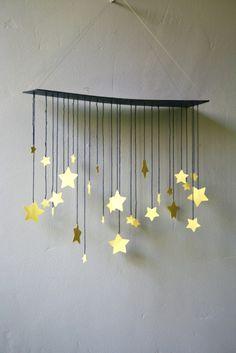 Raining Stars Mobile van shopprettythings op Etsy