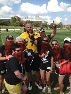 Fear the Beard!  Steelers Training Camp 2013