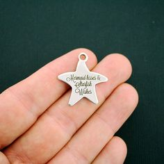 Beach Stainless Steel Charms Starfish - Mermaid kisses & Starfish Wishes - Exclusive Line - Quantity Options - BFS1057